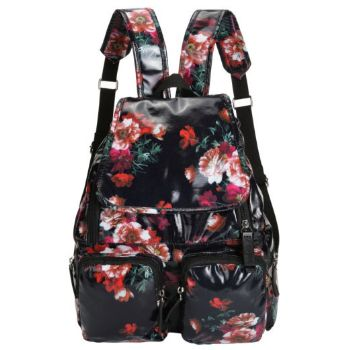 Oilskin Backpack – Dark Floral
